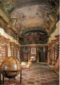 Biblioteca barroca del observatorio astronómico de Praga