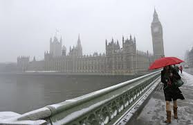 Bajo la lluvia de Londres