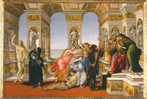 El estilo incorrupto: La calumnia, de Boticelli